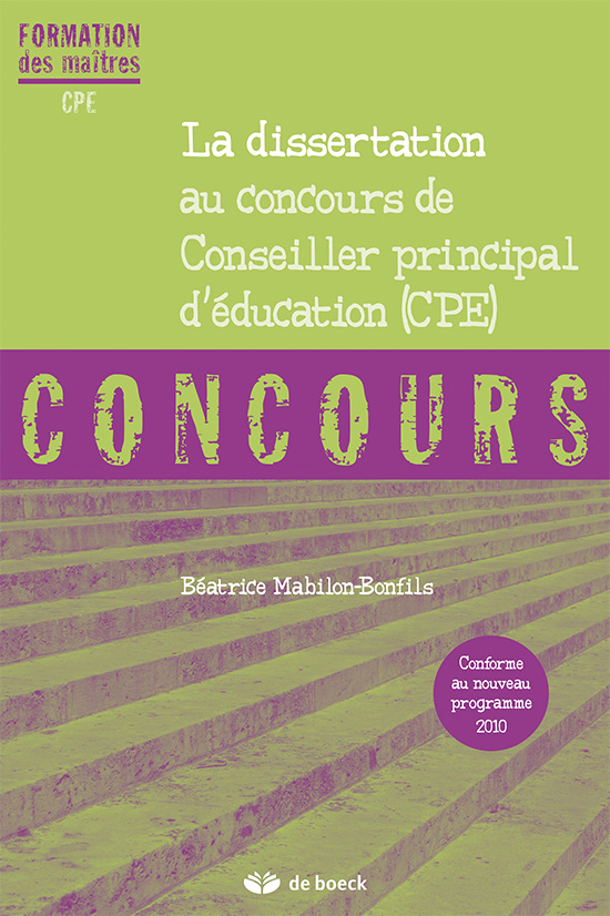 correction dissertation concours cpe