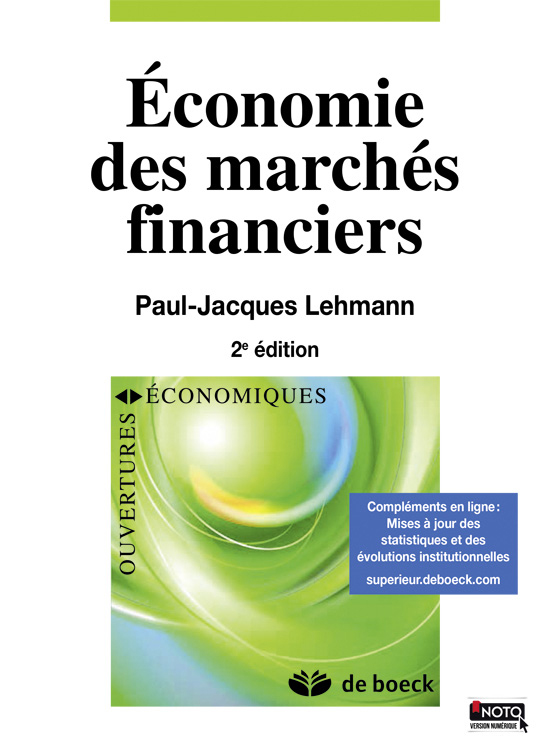 Economie Des Marches Financiers De Boeck Superieur