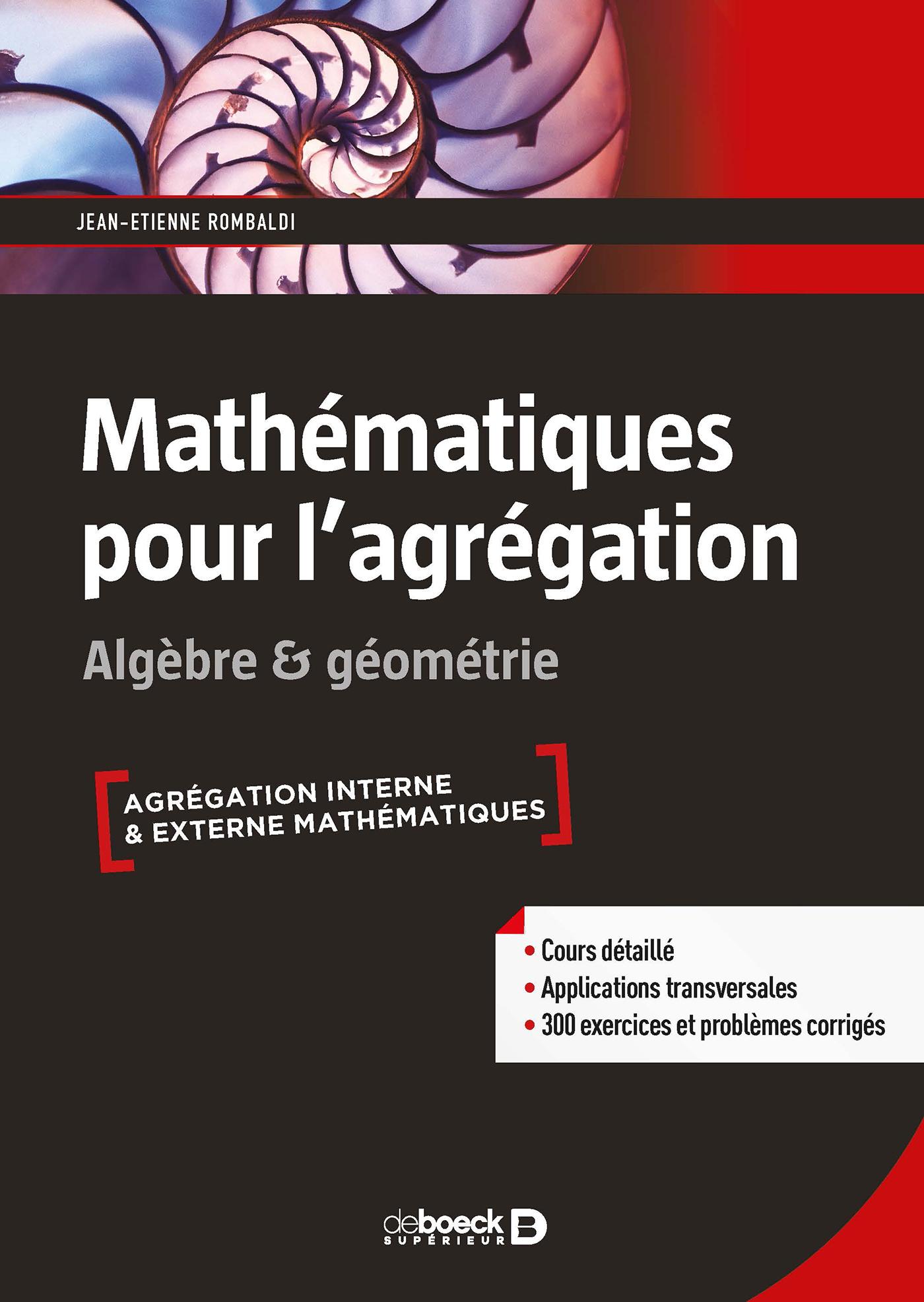Math U00e9matiques Pour L U0026 39 Agr U00e9gation